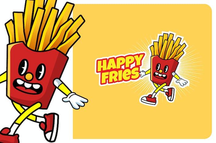 Thumbnail for HAPPY FRIES - Mascot & Esport Logo