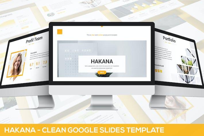 Thumbnail for Hakana - Clean Google Slides Template
