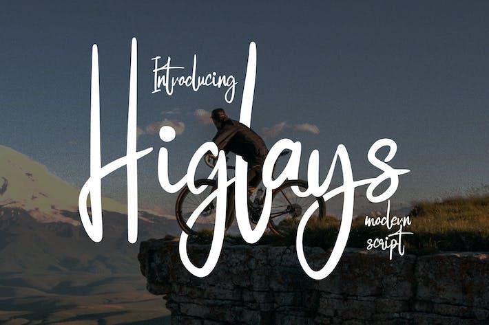 Thumbnail for Higlays   Modern Script Font