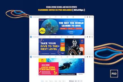 Scuba Diving School & Water Sports Facebook Cover