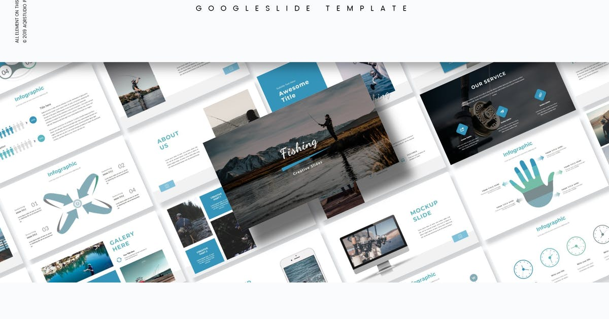 Download Fishing - Google Slide Template by aqrstudio