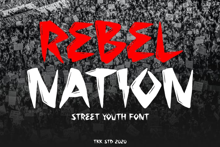 Thumbnail for Nación Rebelde - Tatuaje Graffiti Font