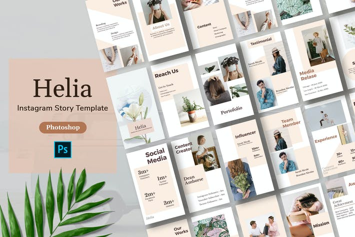 Thumbnail for Helia - Minimalism Instagram Story Template