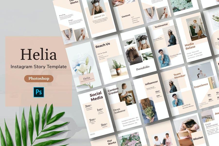 Helia - Minimalism Instagram Story Template
