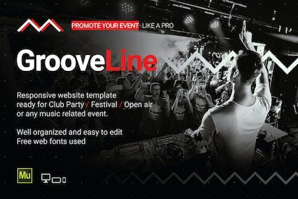 GrooveLine - Музыкальное ивент/Шаблон сайта фестиваля