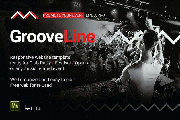 GrooveLine - Music Event / Festival Site Template