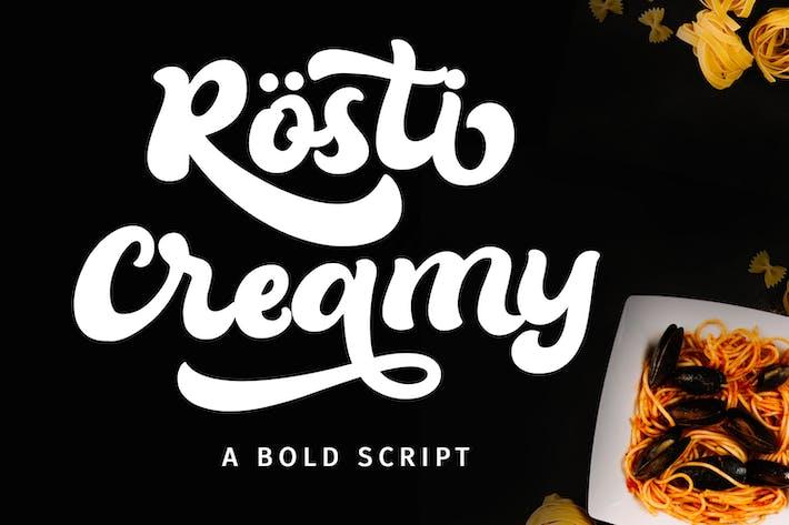 Thumbnail for Rösti Creamy - Bold Script Font