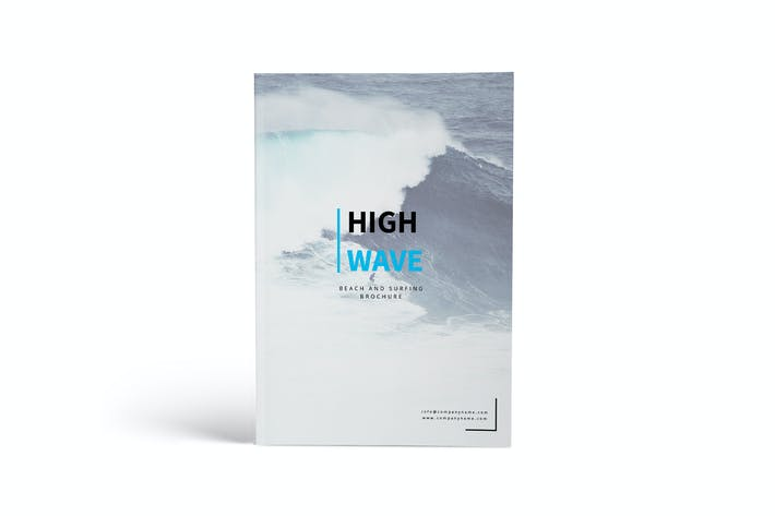 Thumbnail for High Wave - Surfing A4 Brochure