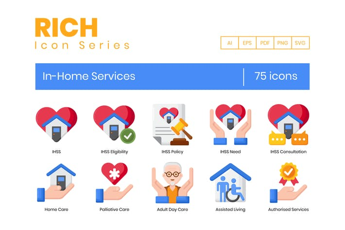 75 In-Home Services Icons - Rich Series