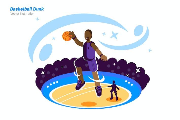 Thumbnail for Basketball Dunk - Vector Illustration