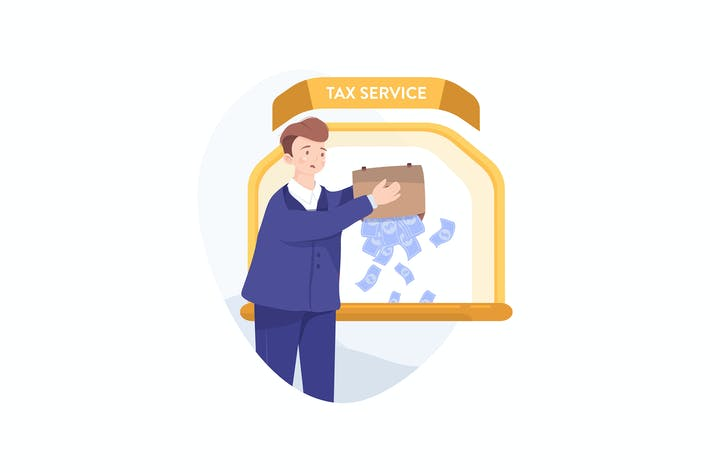 Thumbnail for Tax Service Illustration concept