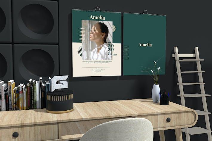 Thumbnail for Amelia - Fashion Wall Calendar 2020