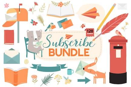 Email Newsletter & Mailing List Decorative Bundle