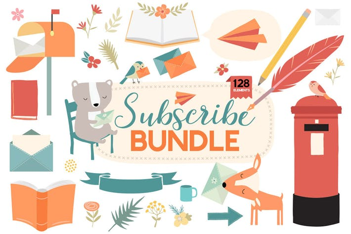 Thumbnail for Email Newsletter & Mailing List Decorative Bundle