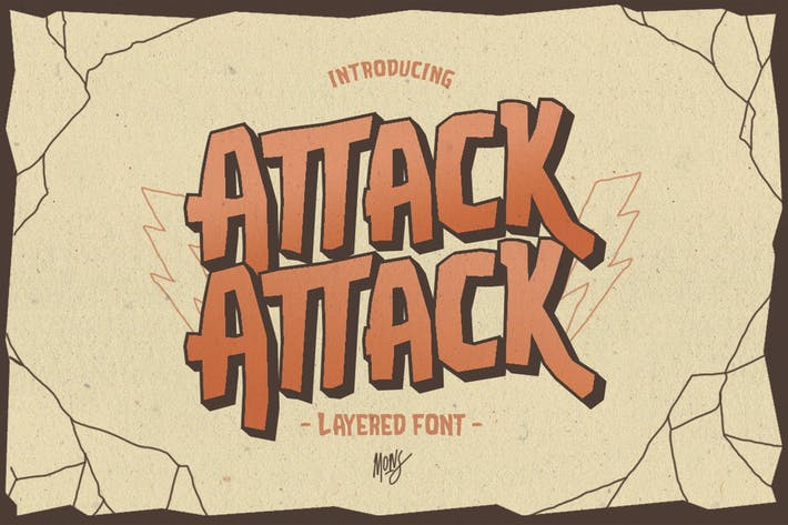 Cover Image For Attack-Attack Typeface