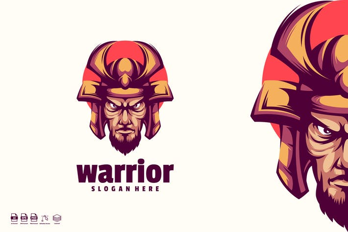 Thumbnail for warrior logo template