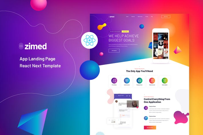 Thumbnail for Zimed - React Next App Landing Page Template