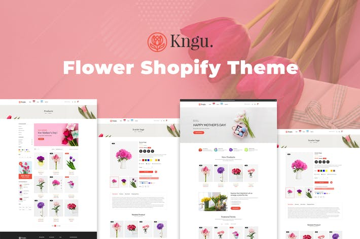 Kngu - Цветочный Shopify Тема