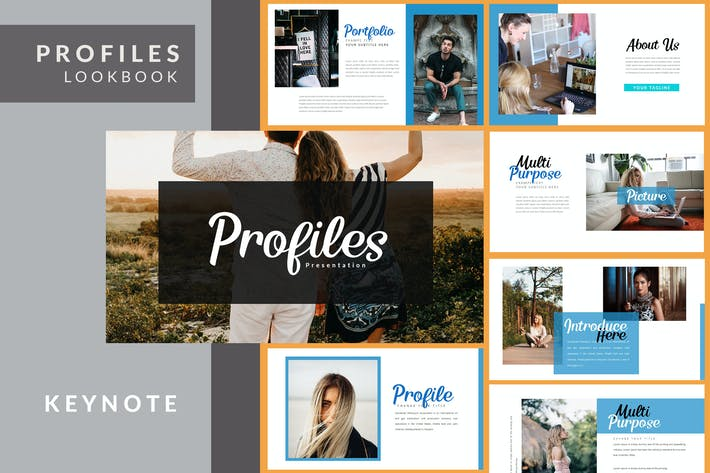 Cover Image For Profiles - Creative Keynote Template