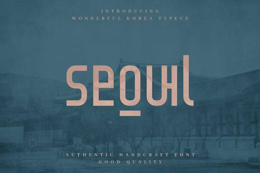 Seoul - Authentic Korean Tipo de letra