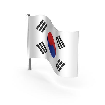Südkorea Cartoon Flagge