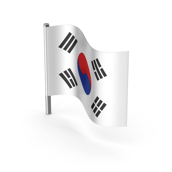 South Korea Cartoon Flag