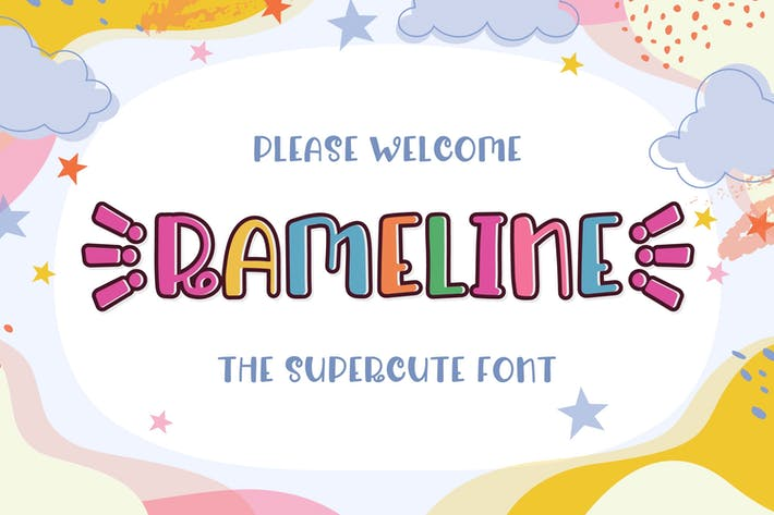 Thumbnail for Rameline - Supercute Display Font
