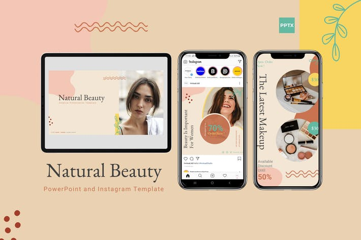 Thumbnail for Natural Beauty - Powerpoint & Instgram Template