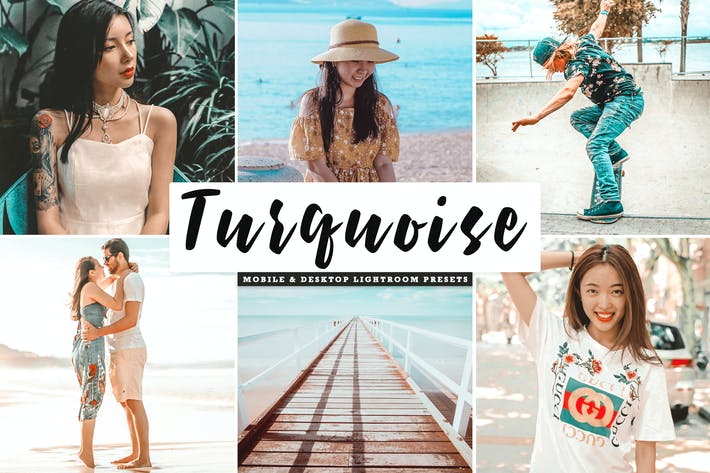 Thumbnail for Turquoise Mobile & Desktop Lightroom Presets