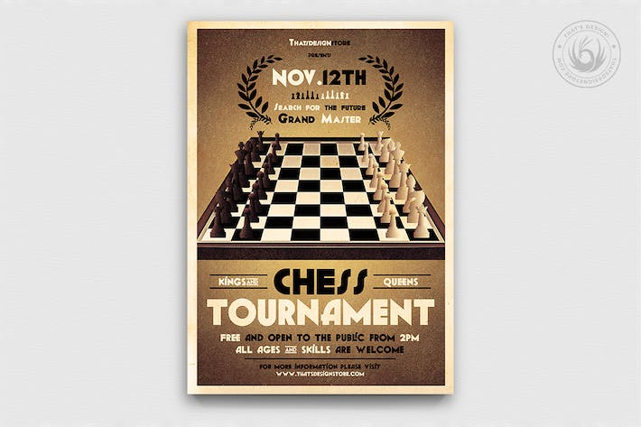 Thumbnail for Chess Tournament Flyer Template
