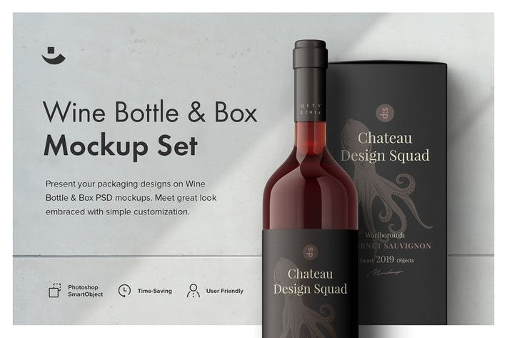Thumbnail for Essential Wine Bottle Mockup Set