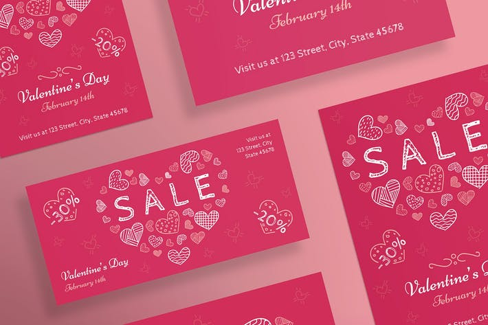 Cover Image For Valentine's Day Flyer and Poster Template
