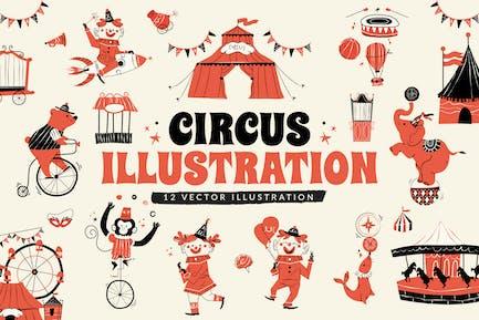 Circus Illustration Set