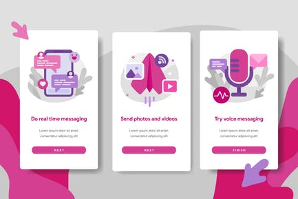 Chat Messaging App Illustration