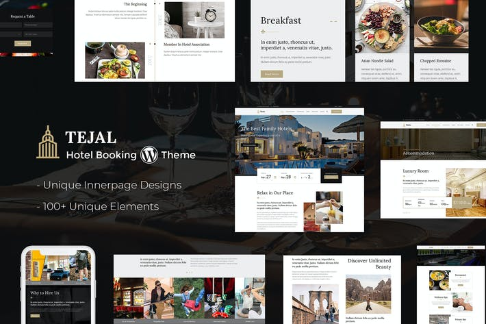 Thumbnail for Tejal - Resort, Hotel Booking WordPress Theme
