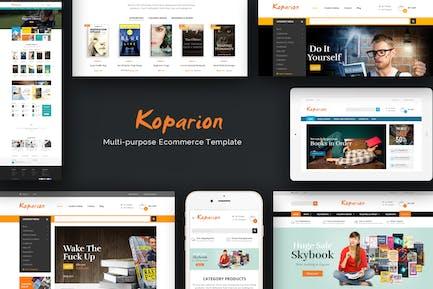 Koparion - Book Shop Responsive OpenCart Theme