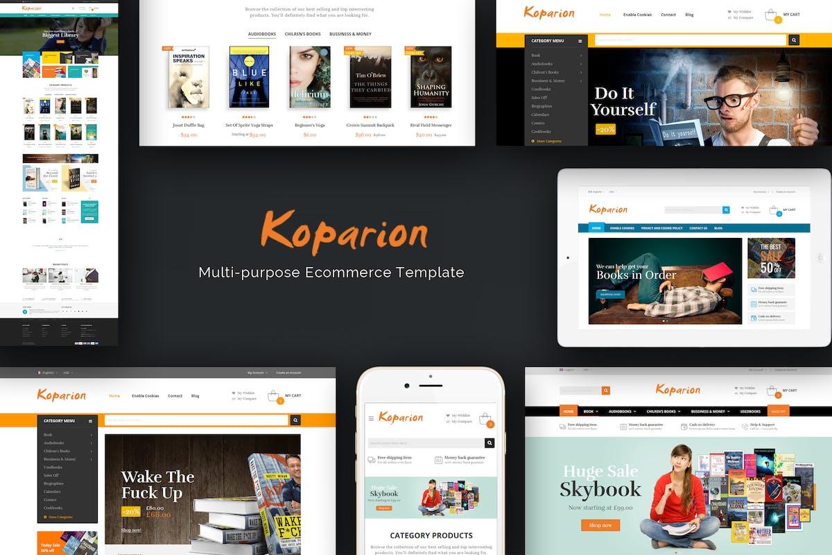 Koparion Book Shop Responsive Opencart Theme By Posthemes On