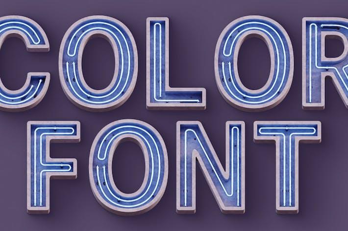 Thumbnail for Concrete Neon - Color SVG Font