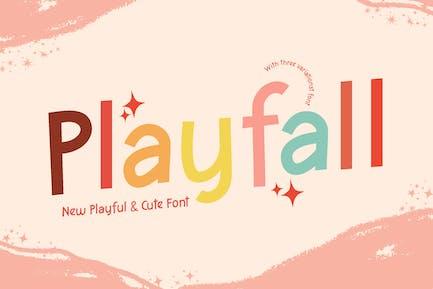 Playfall Kids Education Font