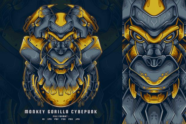 Monkey Gorilla Cyberpunk