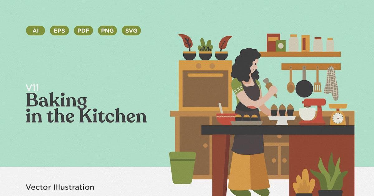 Download Baking in the Kitchen Illustration by telllu