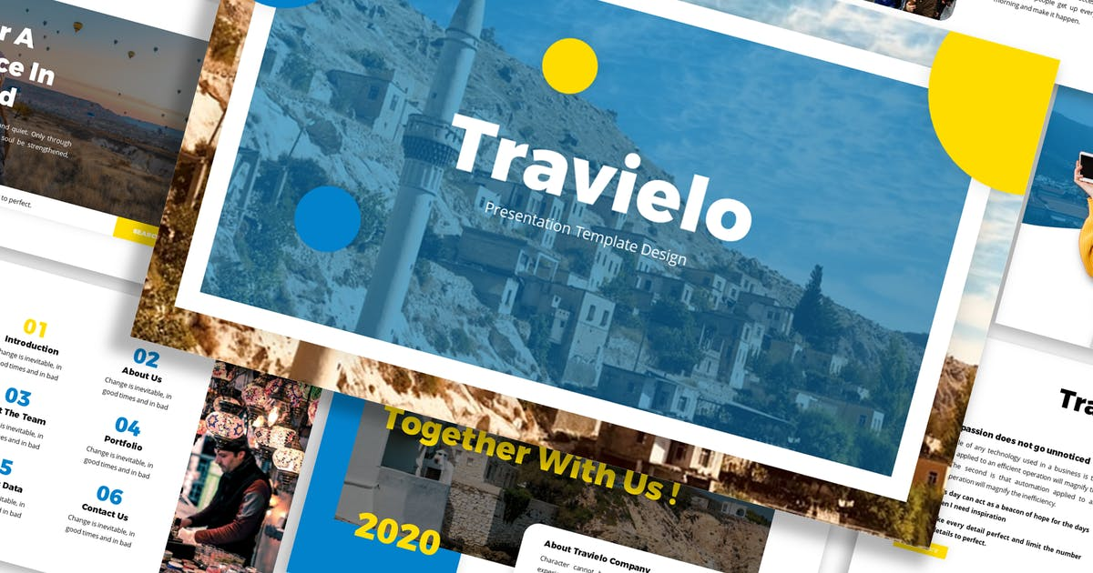 Download Travielo - Traveling Template Prensentation by Blesstudio