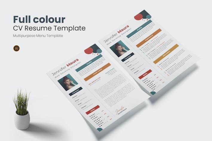 Full Colour CV Resume