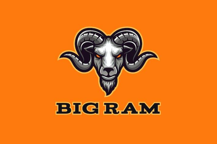 Thumbnail for Big Ram Mascot Logo