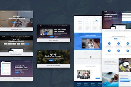 Lyra - SaaS App Landing Page Joomla Template
