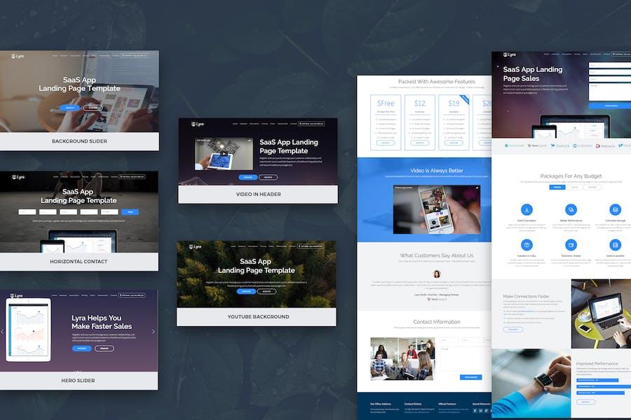 Lyra - Página de aterrizaje de Aplicación SaaS Plantilla Joomla