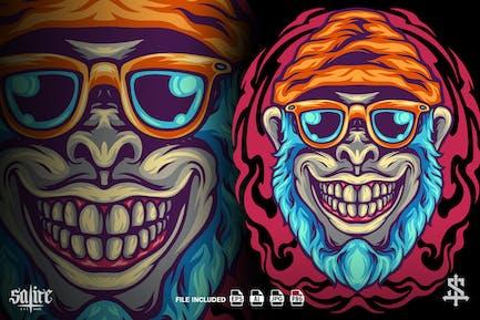 Funky Monkey Head