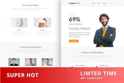 Responsive Email + Online Template Builder - Super