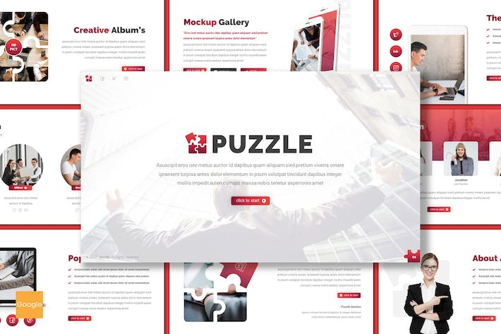 Thumbnail for Puzzle - Business Google Slides Template