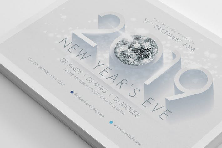 Thumbnail for 2019 New Years Flyer Template